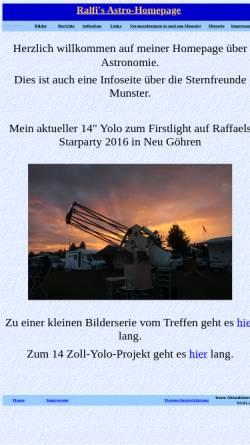 Vorschau der mobilen Webseite www.astroattack.eu, Ralfi's Astro-Homepage