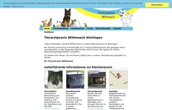 Vorschau von www.nuertingen-tierarzt.de, Tierarztpraxis Wittmaack
