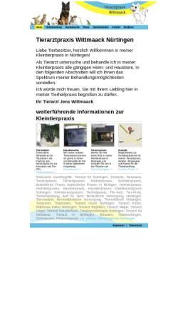 Vorschau der mobilen Webseite www.nuertingen-tierarzt.de, Tierarztpraxis Wittmaack