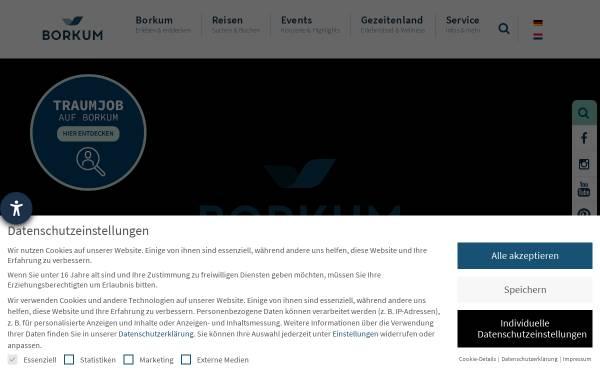 Vorschau von www.borkum.de, Borkum