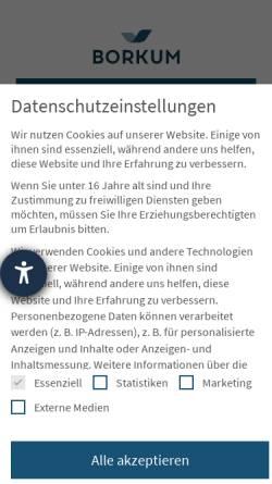 Vorschau der mobilen Webseite www.borkum.de, Borkum