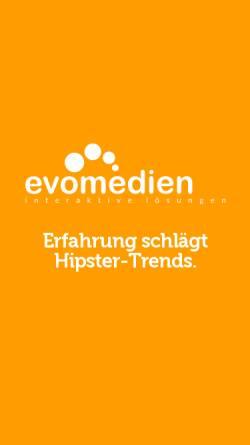 Vorschau der mobilen Webseite www.evomedien.de, Internetagentur & Werbeagentur Kiel - evomedien