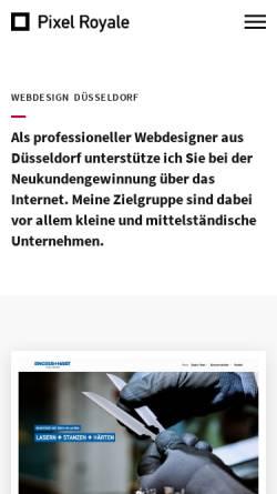 Vorschau der mobilen Webseite www.pixelroyale.de, Pixel Royale