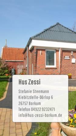 Vorschau der mobilen Webseite www.hus-zessi-borkum.de, Ferienhaus 'Hus Zessi'