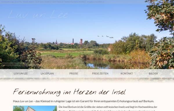 Vorschau von www.haus-luvunlee.de, Ferienwohnung 'Luv un Lee'