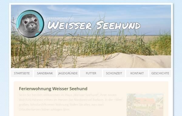 Vorschau von www.weisser-seehund.de, Ferienwohnung 'Weisser Seehund'