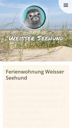 Vorschau der mobilen Webseite www.weisser-seehund.de, Ferienwohnung 'Weisser Seehund'