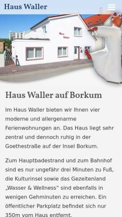 Vorschau der mobilen Webseite www.haus-waller.de, Haus Waller