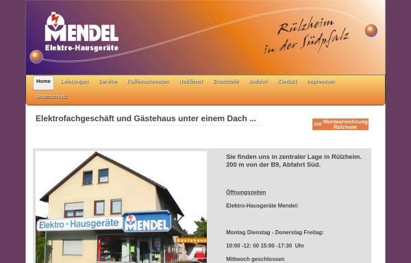 Vorschau von www.elektromendel.de, Elektro-Hausgeräte Mendel