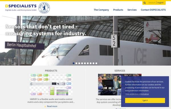 Vorschau von www.dspecialists.de, DSPecialists - Digitale Audio- und Messsysteme GmbH