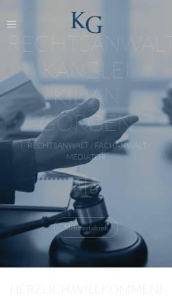 Vorschau der mobilen Webseite www.goergen-rechtsanwalt.de, Rechtsanwalt Kilian Görgen