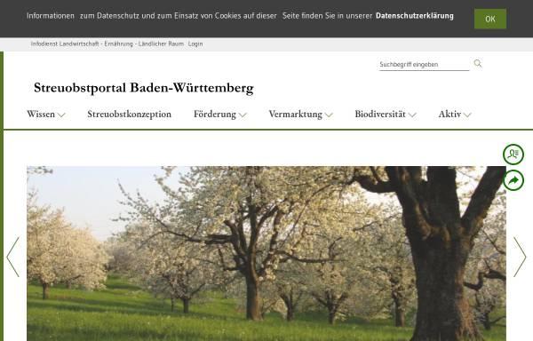 Vorschau von www.streuobstwiesen-bw.de, Streuobstportal des Landes Baden-Württemberg