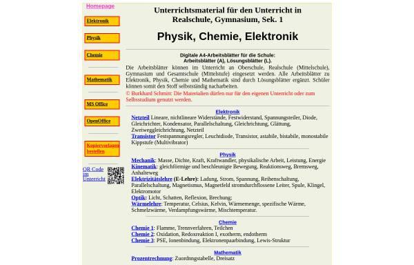 Arbeitsblätter Physik Chemie: Mathematik, Naturwissenschaften und ...