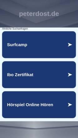 Vorschau der mobilen Webseite www.peterdost.de, Peter und Carola