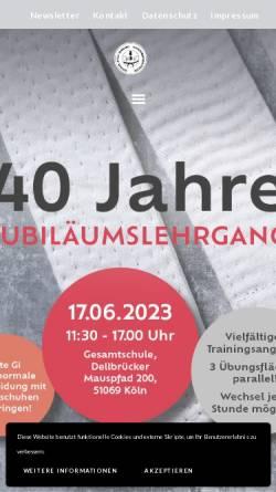Vorschau der mobilen Webseite www.goshin-jitsu.de, Goshin-Jitsu Verband Nordrhein-Westfalen e.V.