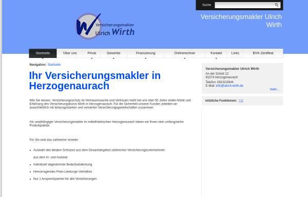 Vorschau von www.ulrich-wirth.de, Ulrich Wirth GmbH Versicherungsmakler