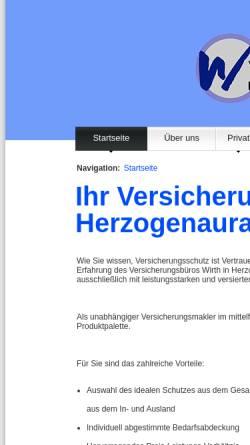 Vorschau der mobilen Webseite www.ulrich-wirth.de, Ulrich Wirth GmbH Versicherungsmakler