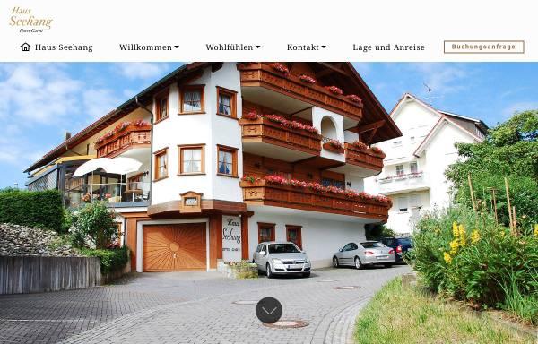 Vorschau von www.hotel-haus-seehang.de, Hotel Pension Haus Konstanz
