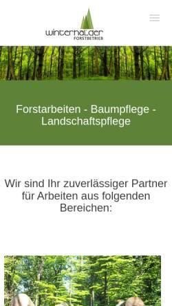 Vorschau der mobilen Webseite www.forstbetrieb-winterhalder.de, Winterhalder GmbH & CO. KG