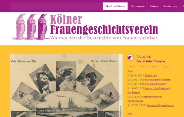 Vorschau von www.frauengeschichtsverein.de, Kölner Frauengeschichtsverein e.V.