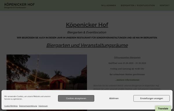Vorschau von koepenicker-hof.de, Köpenicker Hof