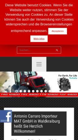 Vorschau der mobilen Webseite www.carraro-traktoren.de, Moderne Anlagepflegetechnik und Automobil GmbH