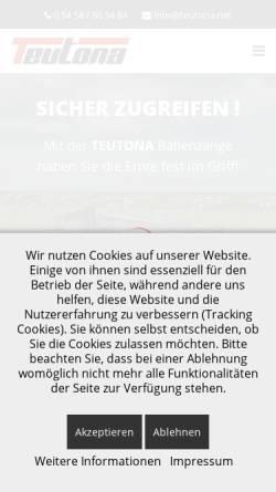 Vorschau der mobilen Webseite www.teutona.net, Teutona.net