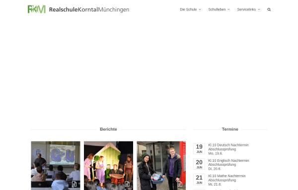 Vorschau von www.rs-km.de, Realschule Korntal-Münchingen