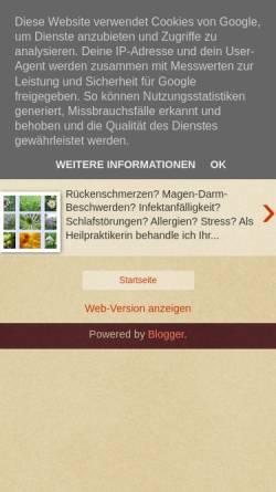 Vorschau der mobilen Webseite www.heilpraxis-willers.de, Willers Silke