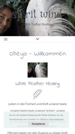 Vorschau der mobilen Webseite www.tierheilpraxis-lorenz.de, Ganzheitliche Tiermedizin für Hunde und Katzen
