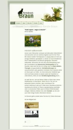 Vorschau der mobilen Webseite www.braun-tier.de, Kerstin Braun