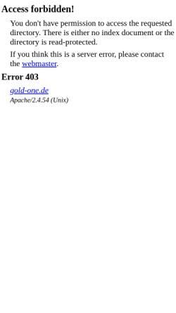 Vorschau der mobilen Webseite gold-one.de, Gold-One