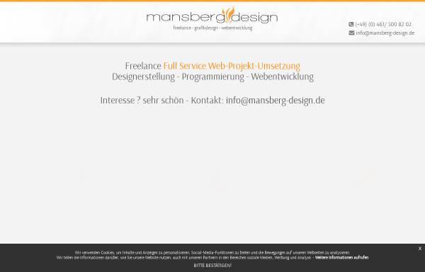 Vorschau von www.mansberg-design.de, Noncrease Design, Bernd Mansberg