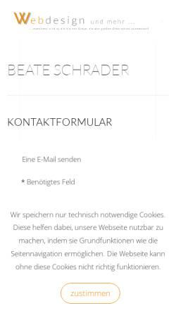 Vorschau der mobilen Webseite www.webdesign-ostholstein.de, Webdesign Ostholstein, Beate Beermann