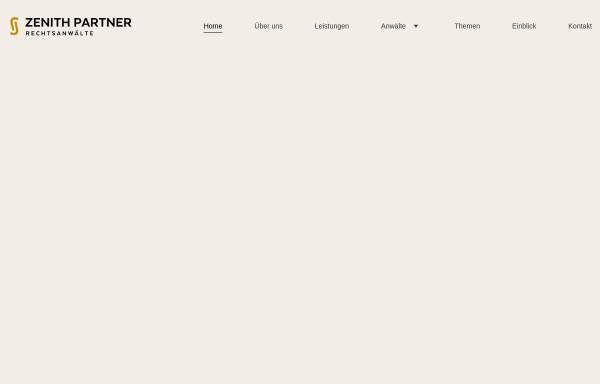 Vorschau von www.zenith-partner.de, Zenith Partner