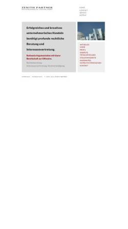 Vorschau der mobilen Webseite www.zenith-partner.de, Zenith Partner