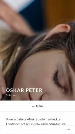 Vorschau der mobilen Webseite oskarpeter.at, Oskar Peter