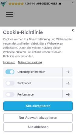 Vorschau der mobilen Webseite www.welcon.de, Welcon Europe Ltd. & Co. KG