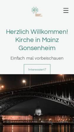 Vorschau der mobilen Webseite www.enchristo.de, enChristo-Gemeinde Mainz