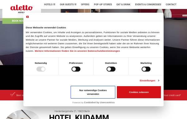 Vorschau von www.aletto.de, Aletto Hotel Kudamm