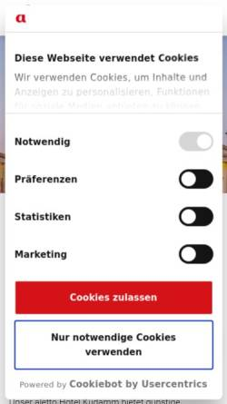 Vorschau der mobilen Webseite www.aletto.de, Aletto Hotel Kudamm