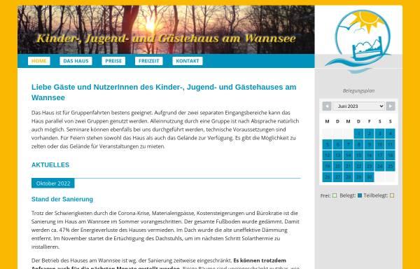 Vorschau von www.haus-am-wannsee.de, Kinder-, Jugend- und Gästehaus am Wannsee