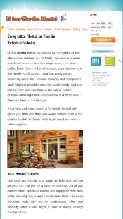 Vorschau der mobilen Webseite uinnberlinhostel.com, U Inn