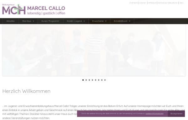 Vorschau von www.mch-heiligenstadt.de, Jugend und Erwachsenen-Bildungshaus Marcel Callo