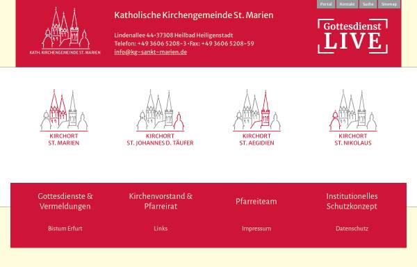 Vorschau von www.sankt-marien-heiligenstadt.de, Kath. Propsteipfarrei St. Marien - Heilbad Heiligenstadt