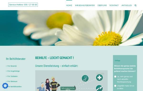 Vorschau von www.medirenta.de, Medirenta Krankenkostenabrechnungs GmbH