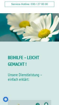 Vorschau der mobilen Webseite www.medirenta.de, Medirenta Krankenkostenabrechnungs GmbH