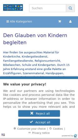 Vorschau der mobilen Webseite www.kisa-kids.de, Kisa Kids, Ulrike Müller