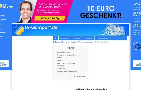 Vorschau von www.dr-gumpert.de, Dr. Gumpert: Gallenblasenkrebs