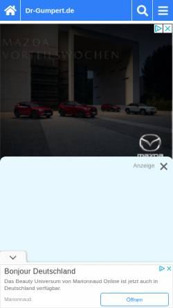 Vorschau der mobilen Webseite www.dr-gumpert.de, Dr. Gumpert: Gallenblasenkrebs